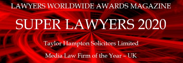 This is a logo showing Taylor Hampton Award