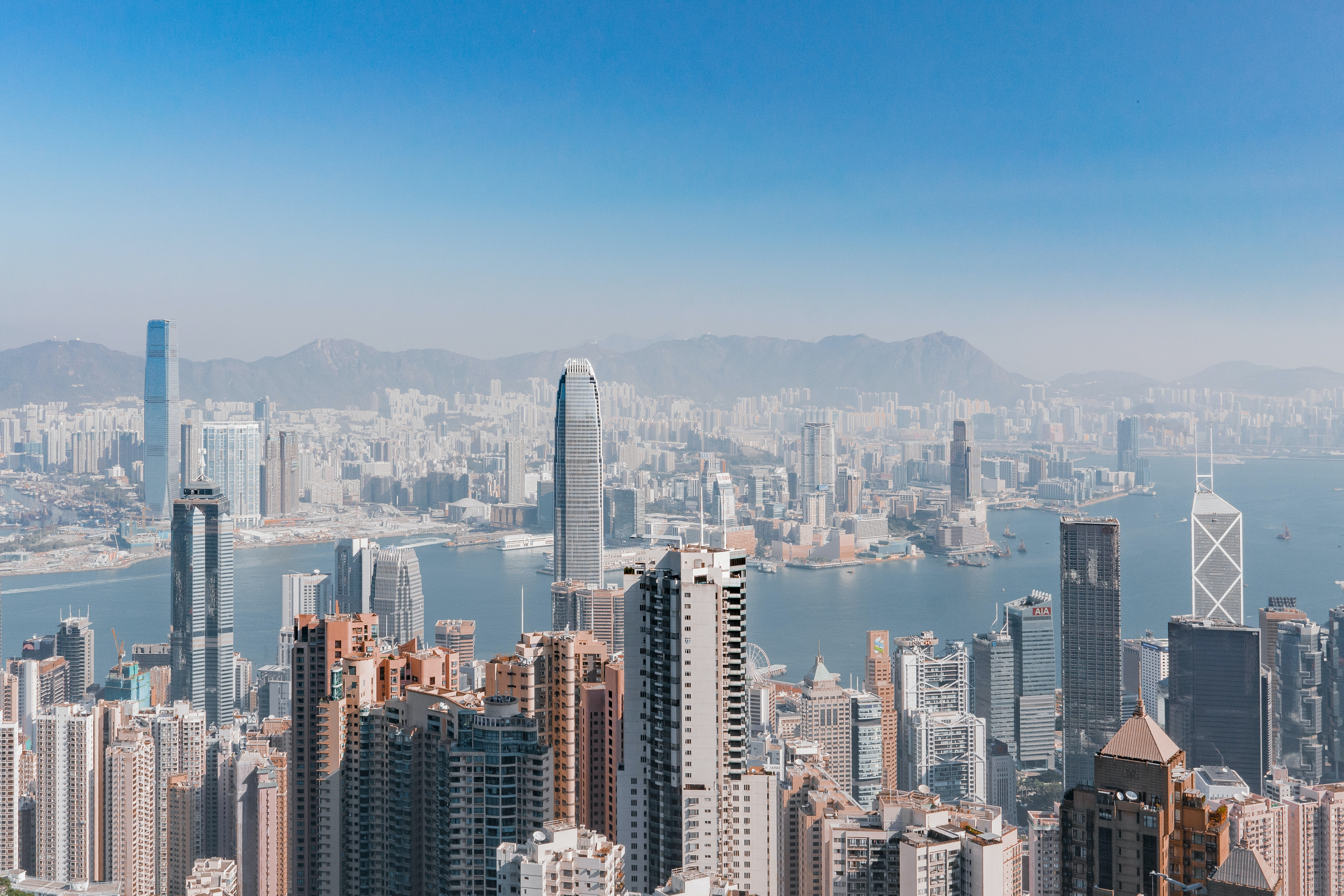 This is a photo of the Hong Kong Skyline