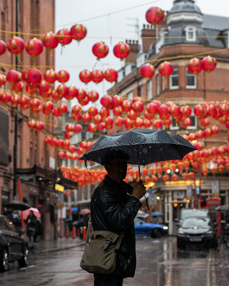 Photo in colour of Chinatown London