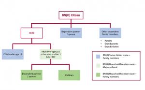 diagram explaining BNO visa