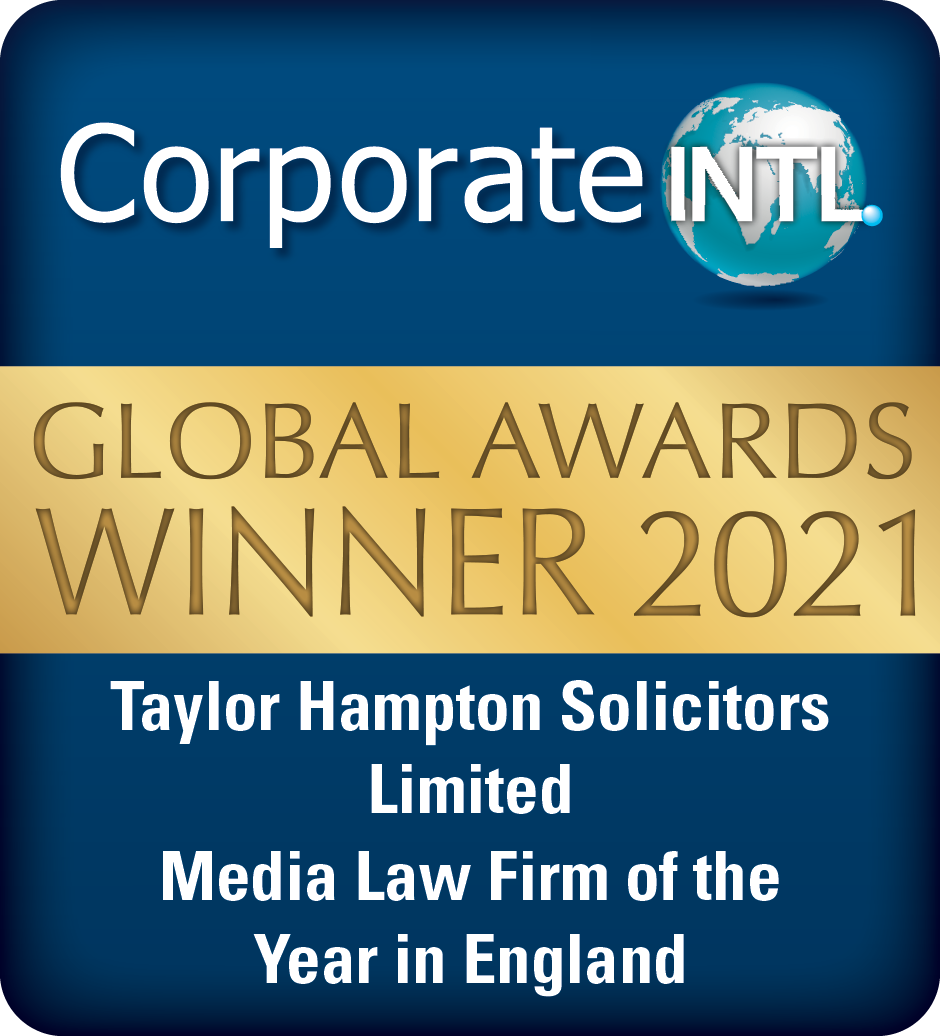 Badge for Global Awards of Taylor Hampton Solicitors