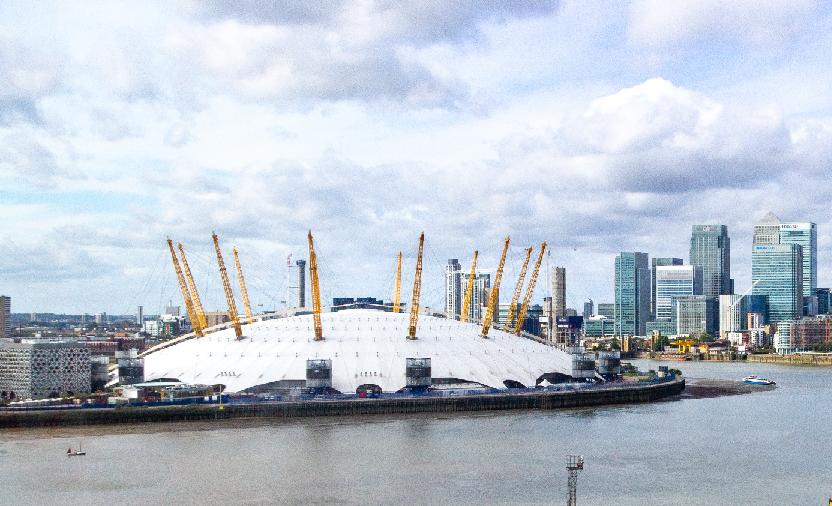 Colour photograph of the Milennium Dome