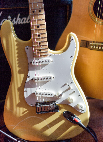 Copyright and Intellectual Property Photo of guitar in sunlight